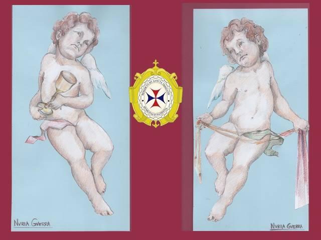 Bocetos angeles pasionarios Humildad y Paciencia