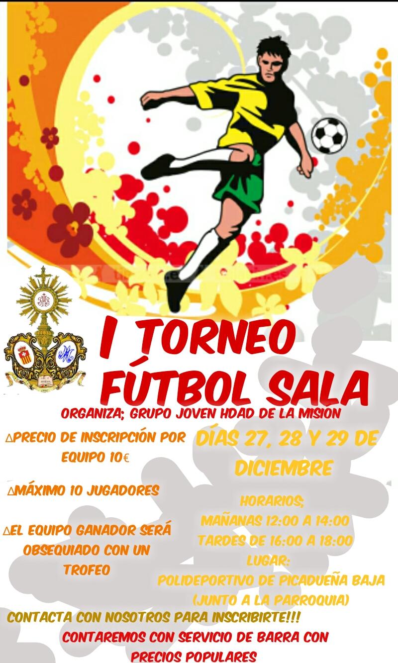 Cartel Campeonato de Futbol Sala del Grupo Joven Hdad Mision