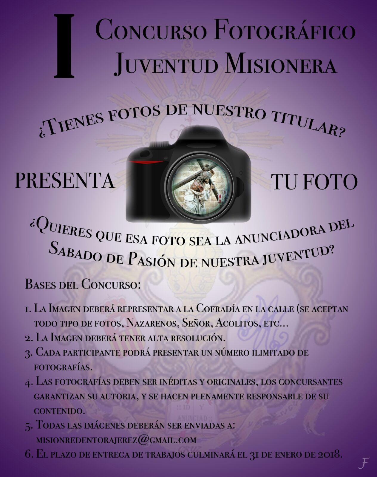 Cartel I Concurso Fotografico Juventud Misionera